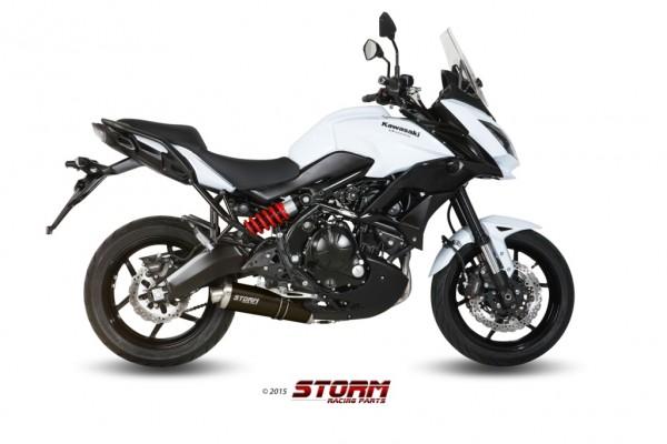 Storm by MIVV OVAL schwarz Kawasaki Versys 650 ´15/18