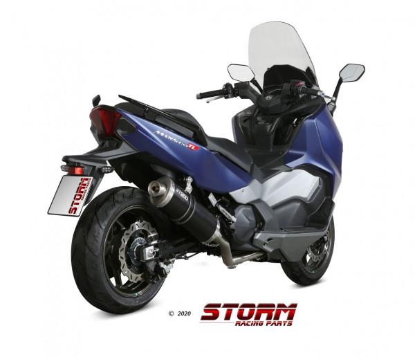 Storm by MIVV OVAL Komplettanlage Oval Edelstahl SYM MAXSYM TL 500 2020-