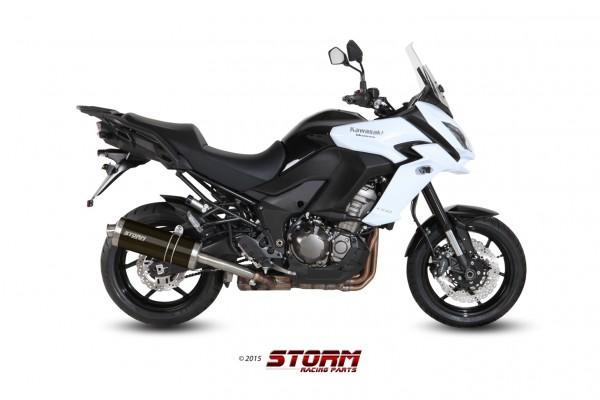 Storm by MIVV OVAL schwarz Kawasaki Versys 1000 ´15/16