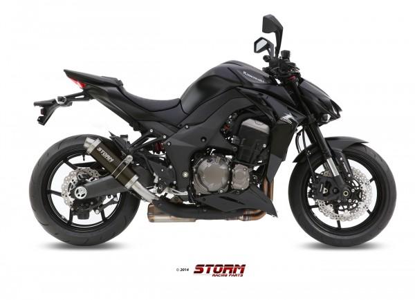 Storm by MIVV GP schwarz Kawasaki Z 1000 ´14/16