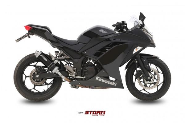 Storm by MIVV GP schwarz Kawasaki Ninja 300 R ´13/16 - Z 300 ´15/16