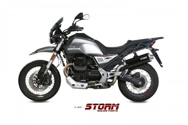 Storm by MIVV OVAL schwarz Moto Guzzi V85 TT 19-