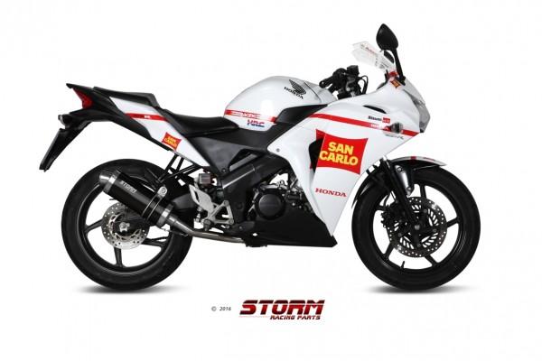 Storm by MIVV OVAL schwarz Honda CBR 125 R 11-