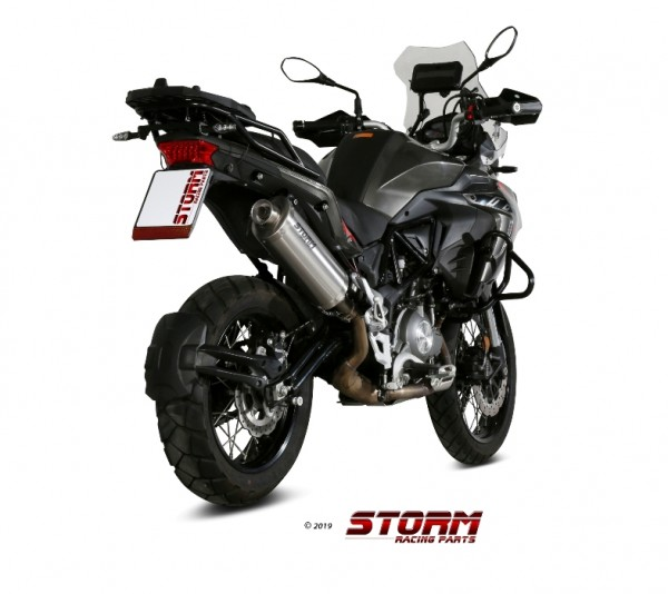 Storm by Mivv Oval Edelstahl BENELLI TRK 502 X 18-