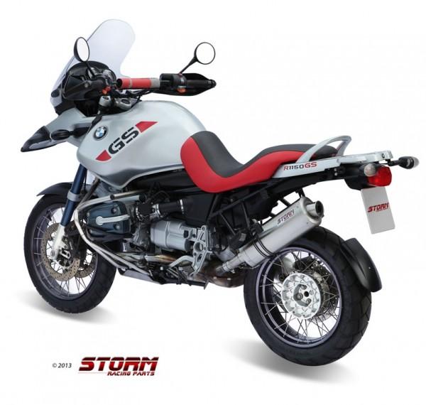 Storm SLIP-ON OVAL Edelstahl für BMW R 1150 GS 99-03
